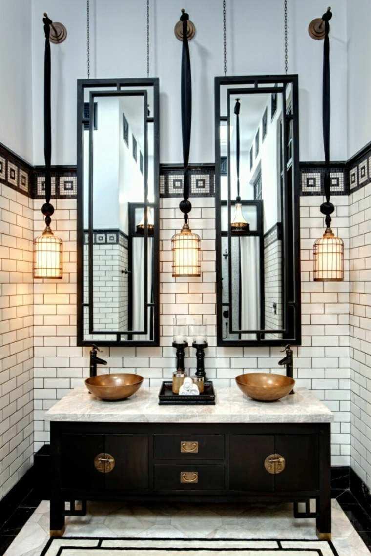 originales luces de baño