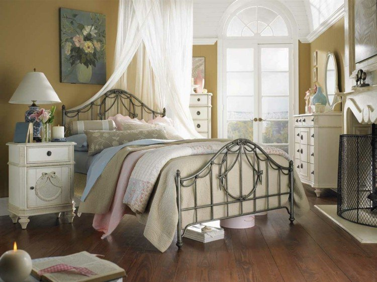 estilo shabby chic dormitorio