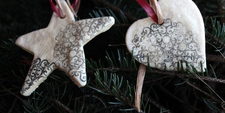 estrellas corazon arbol navideno adornos sal ideas