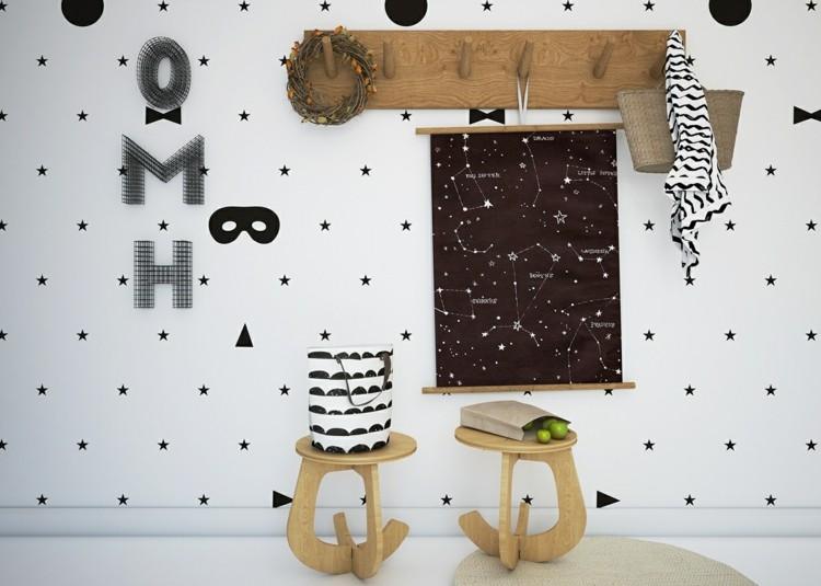 estrellas decorado formas detalles letras
