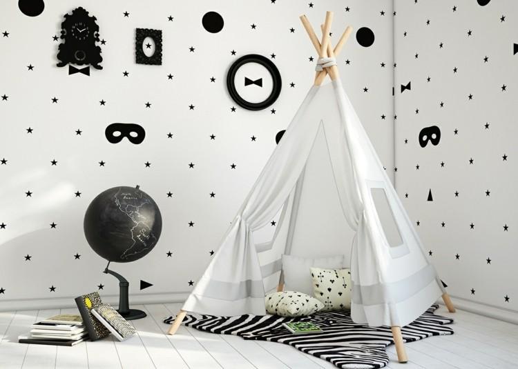 estrellas decorado formas negro infantil