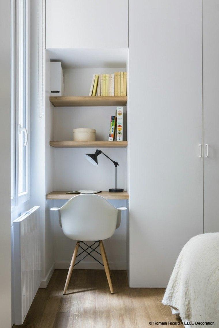 estudio pequeña diseño espejo habitacion
