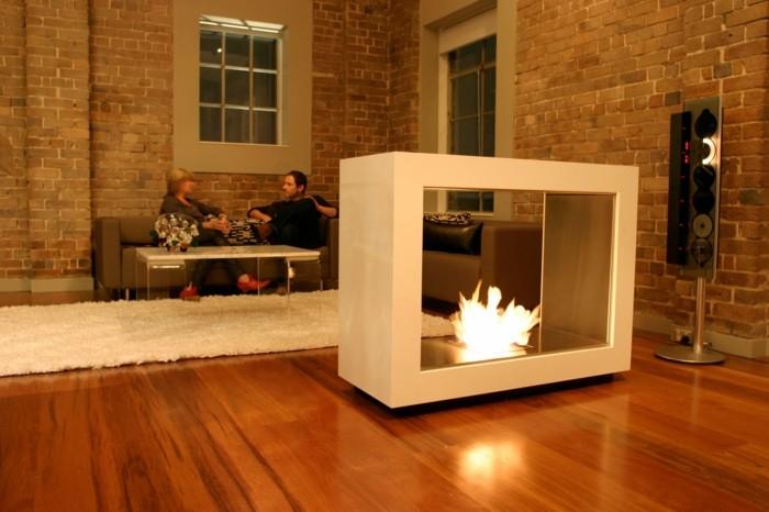 estupenda chimenea diseño moderno cubo
