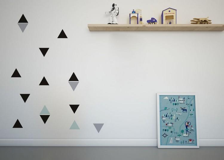 estupenda decoración triangulos paredes