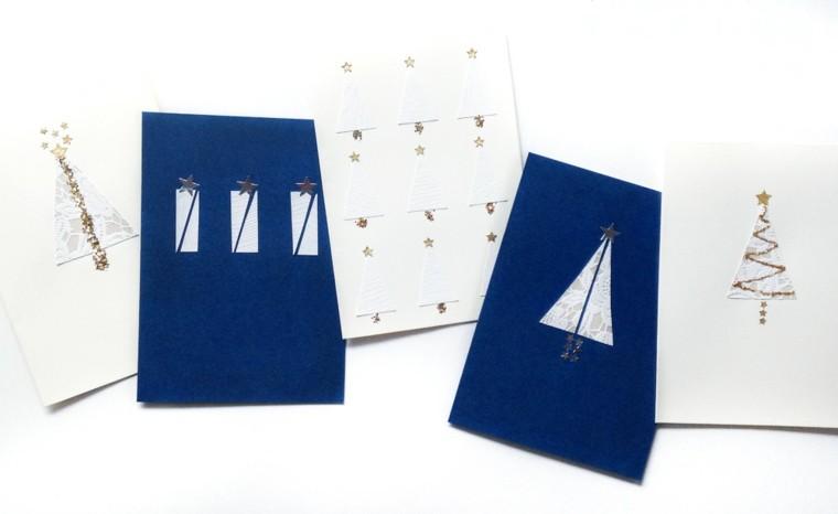 estupendas tarjetas navidad diseño minimalista