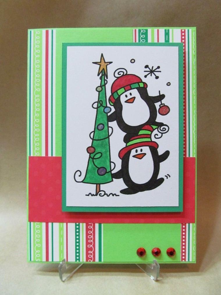 estupenda tarjeta navidad divertida diseño