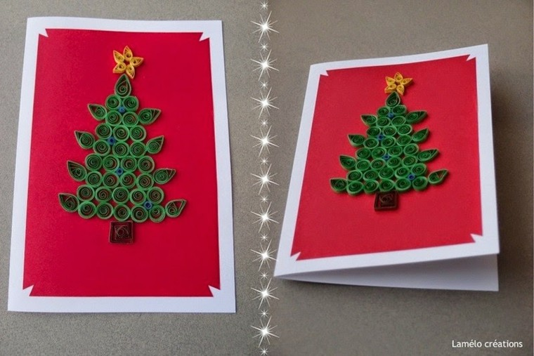Tarjetas de navidad con dise os personalizados originales for Manualidades navidenas con cartulina
