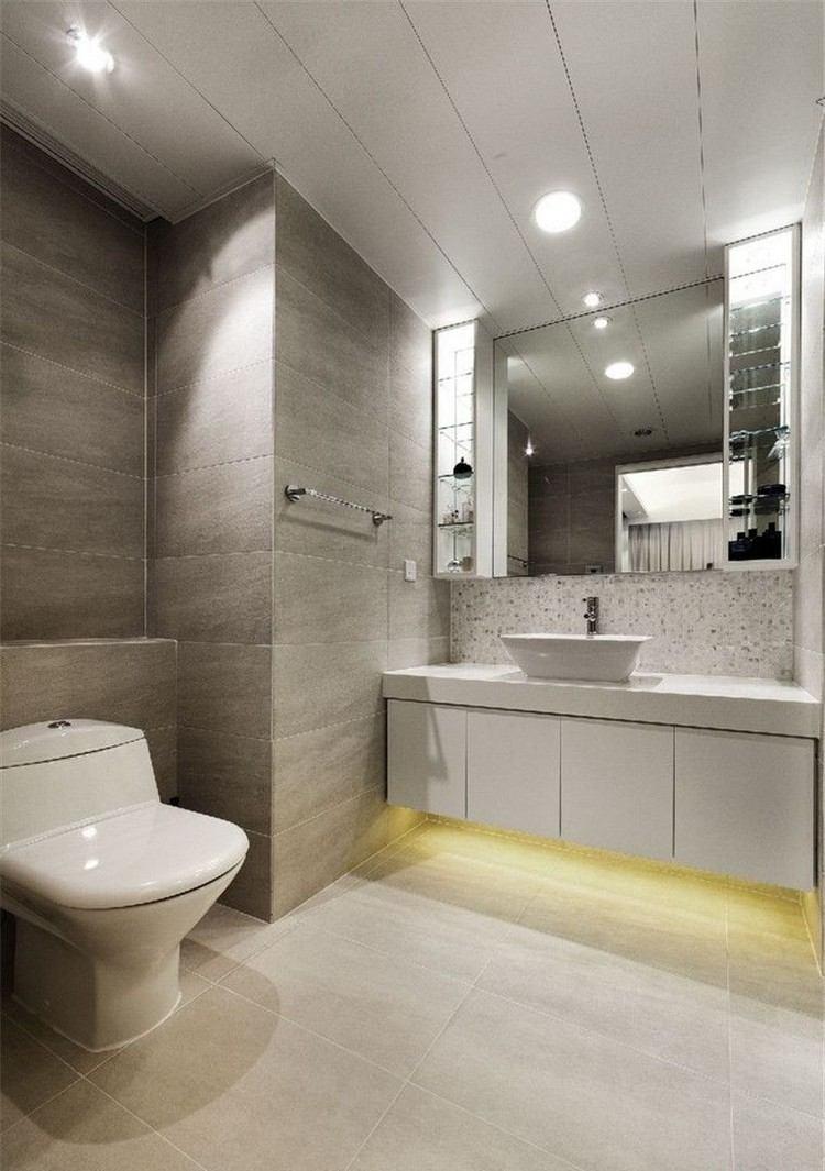 estupendo diseño baño gris
