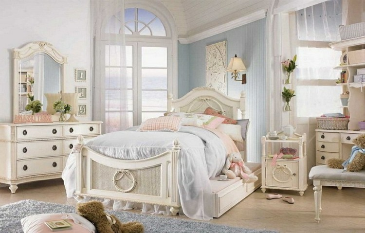 estupendo dormitorio infantil shabby chic