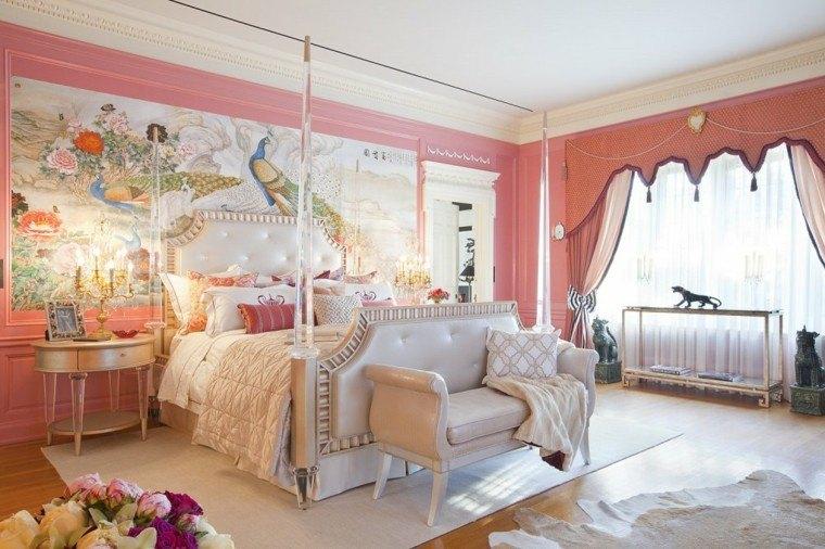 estupendo dormitorio estilo vintage lujoso