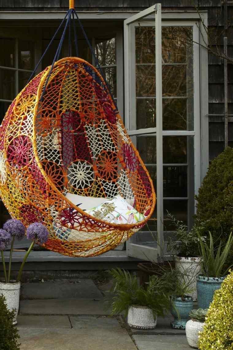 estupendo diseño silla colgante colores