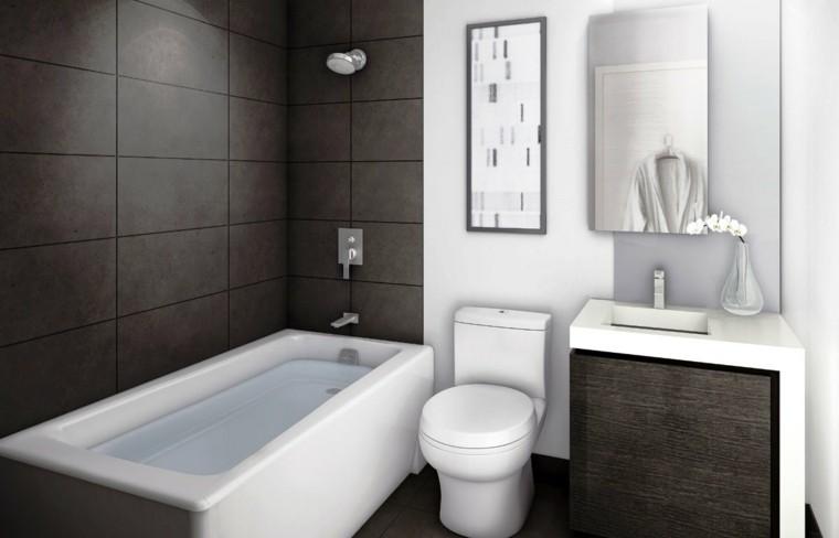 estupendos diseños baños pequeños