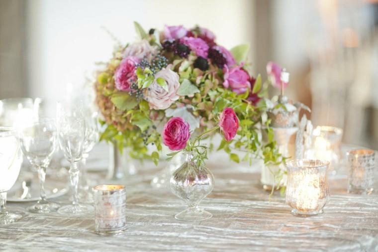 estupendo centro para bodas flores