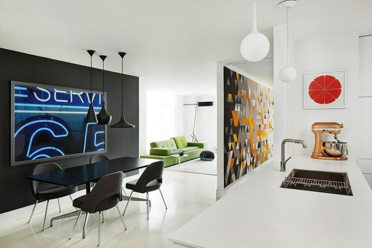 fieltro original paredes casa moderna ideas