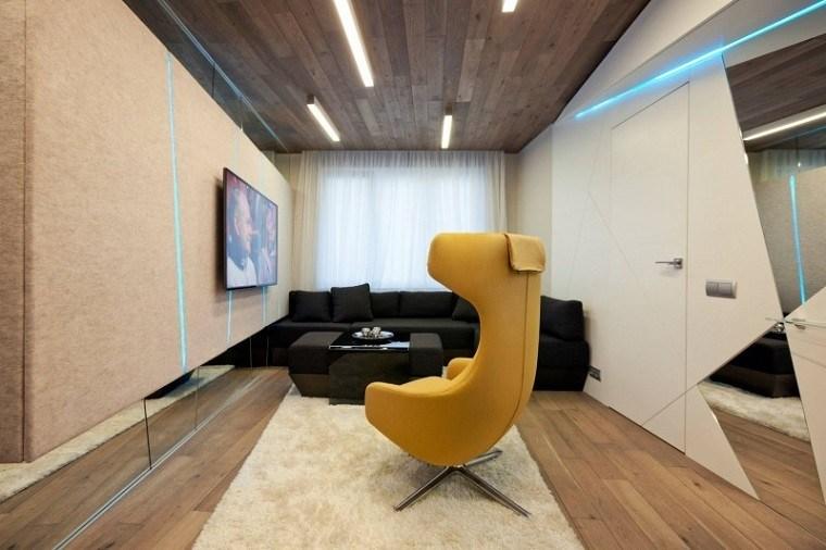 fieltro original paredes techo madera ideas