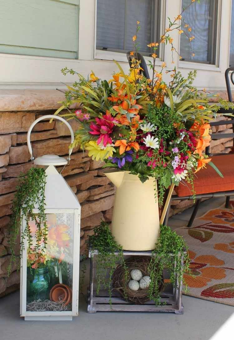 Primavera Ideas Decorativas Para Porches Acogedores