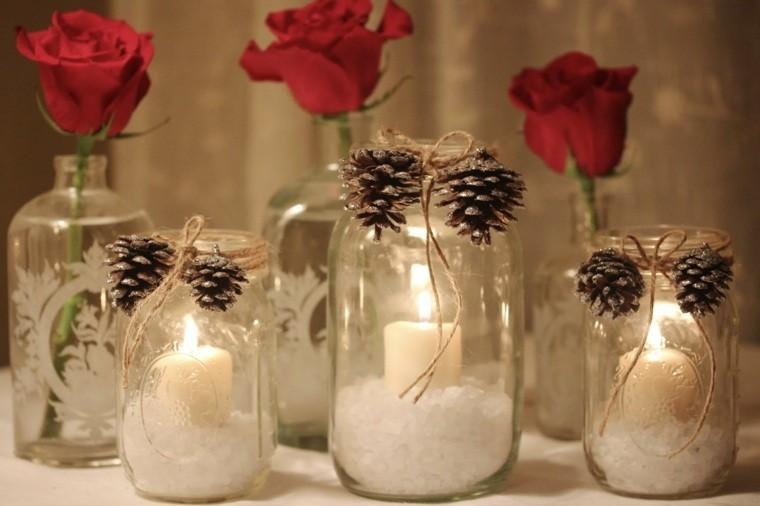 Manualidades navide as y adornos originales m s de 50 - Centros de mesa con pinas secas ...
