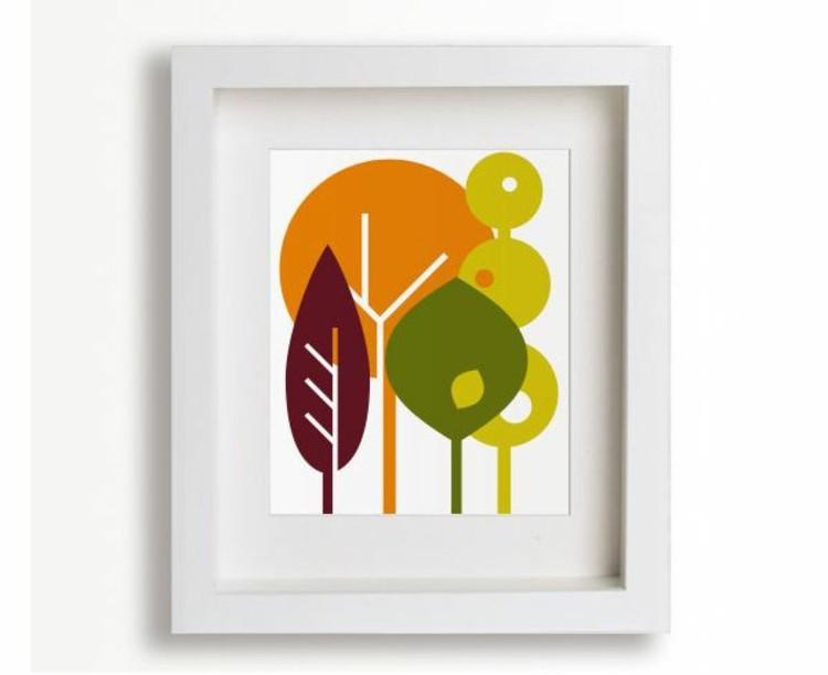 gama de colores ideas bosque cuadro
