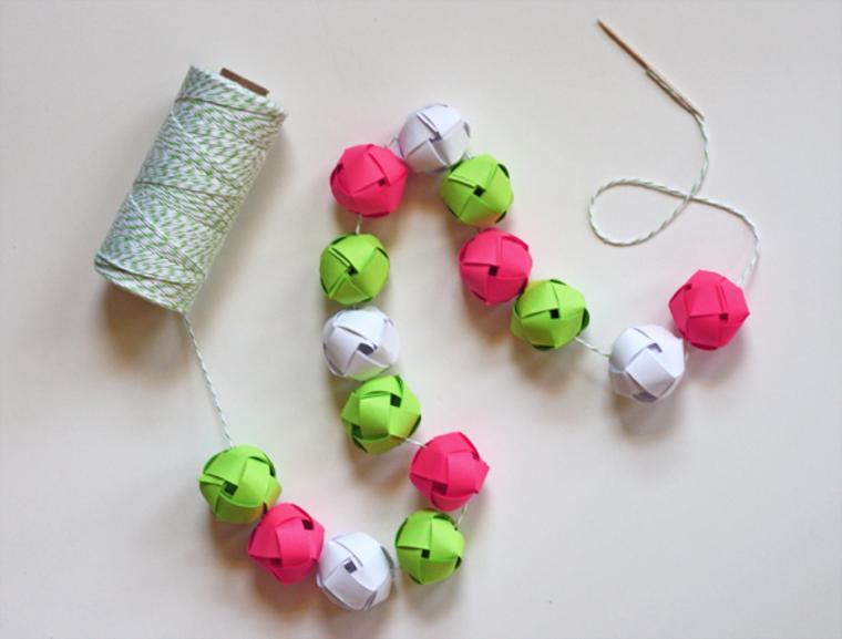 guirnalda bolas cartulina colores ideas