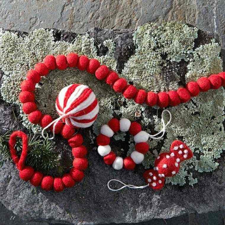 guirnaldas navidad color rojo ideas