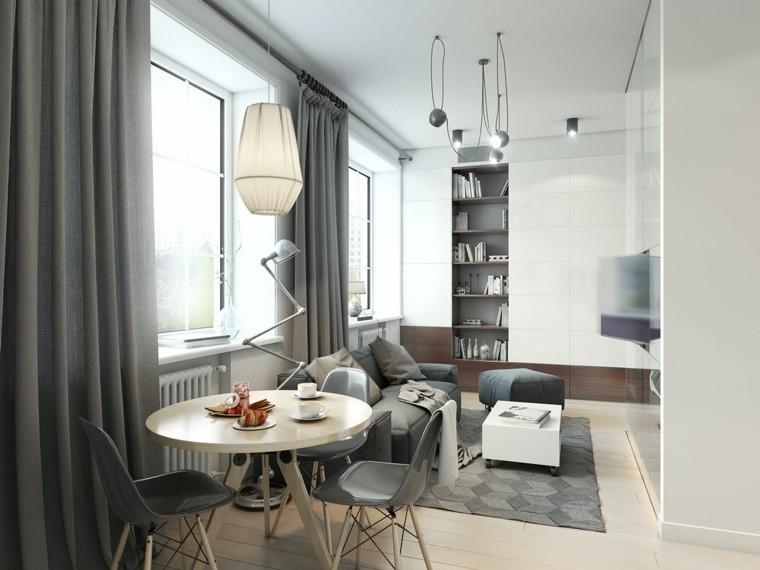 habitacion deseño estilo diferente grises sillas