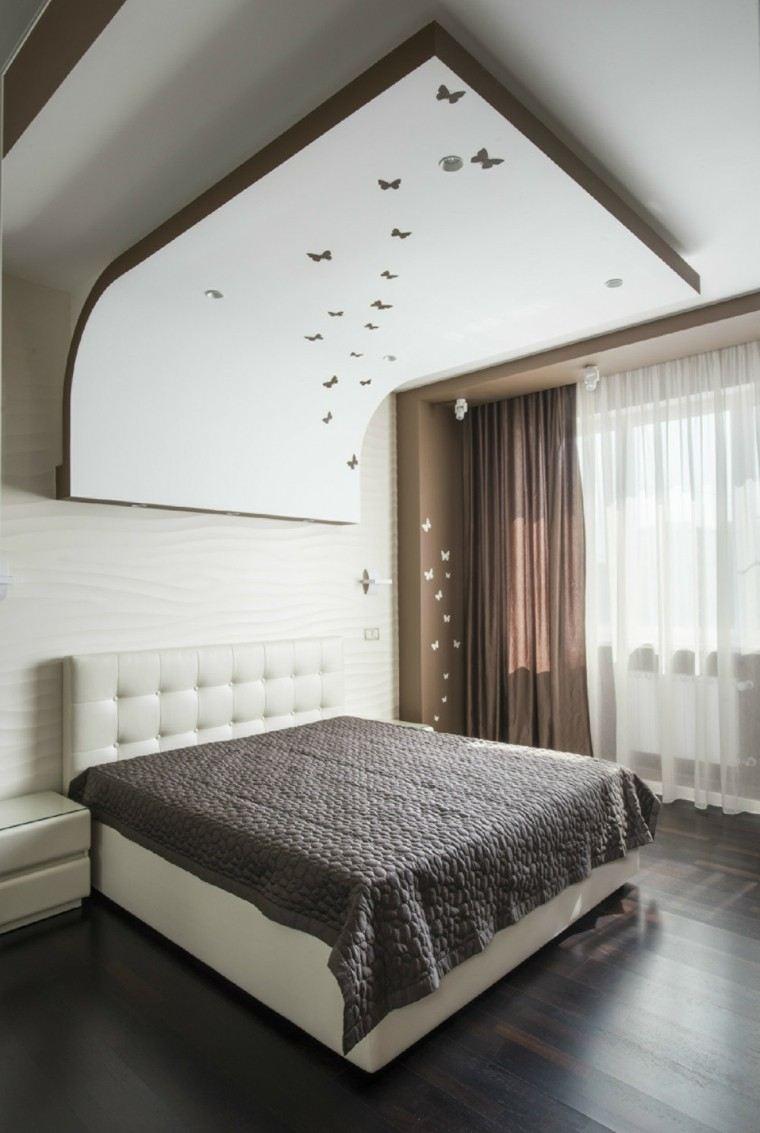 habitacion diseño lamparas cortinas mariposas