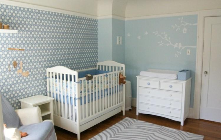 habitacion infantil diseño geometricos paredes