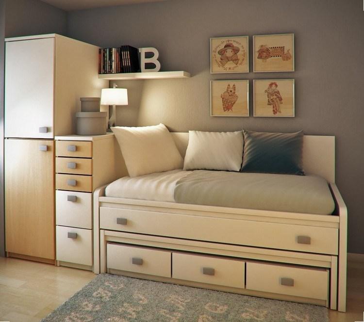 Habitaciones juveniles muebles para espacios peque os for Sofa cama para habitacion juvenil