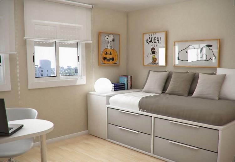 Habitaciones juveniles muebles para espacios peque os - Cuadros para habitaciones juveniles ...