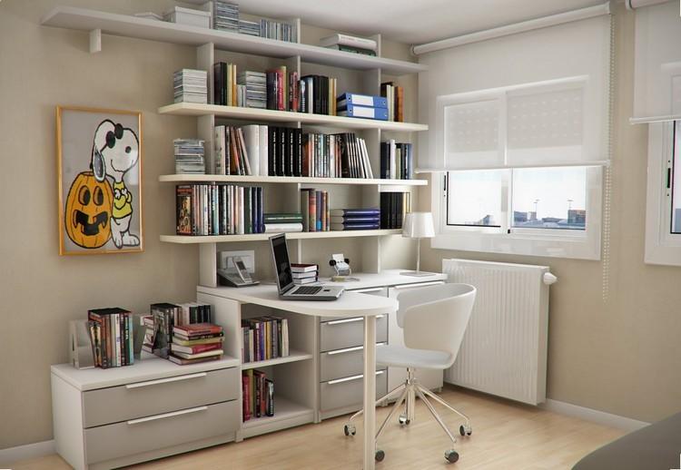 Habitaciones juveniles muebles para espacios peque os - Estanterias para escritorios ...