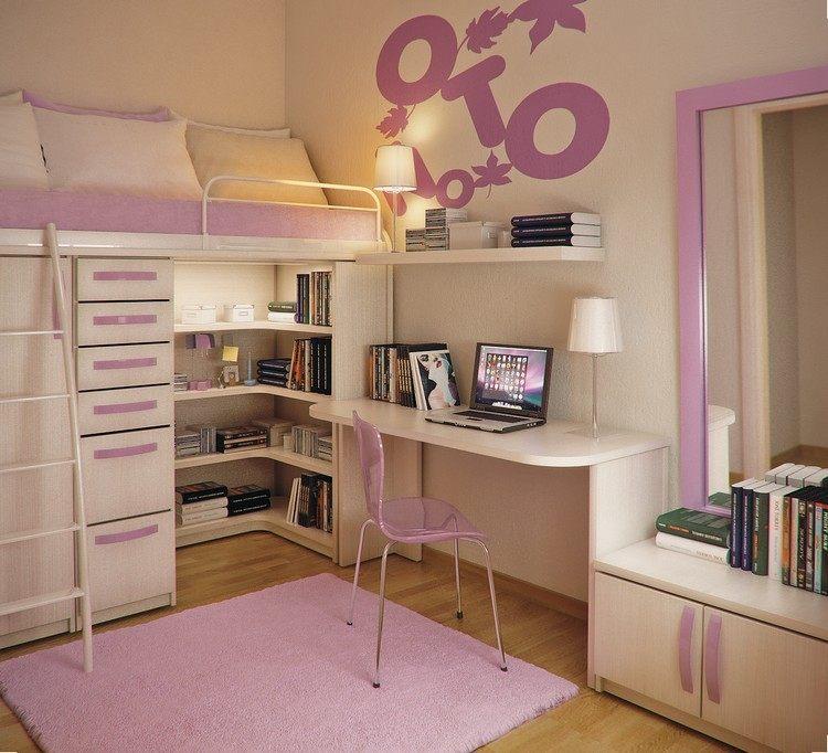 habitacion juvenil muebles preciosa hijos letras pared ideas