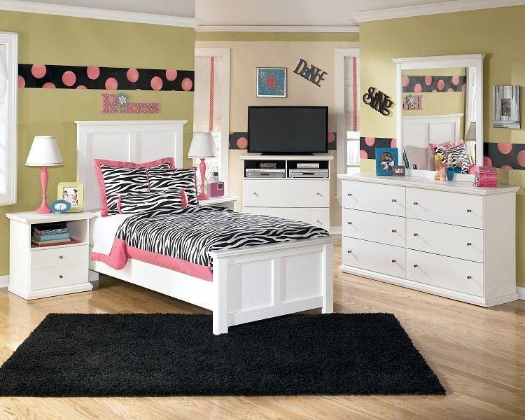 habitacion juvenil muebles preciosa hijos princesa alfombra negra ideas
