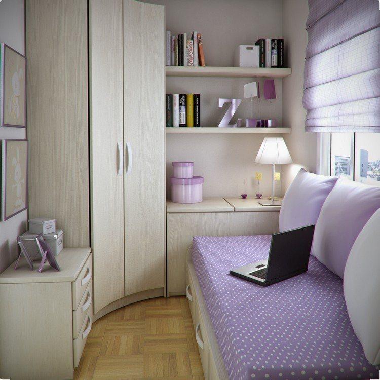 habitacion juvenil muebles preciosa persiana ropa cama purpura ideas