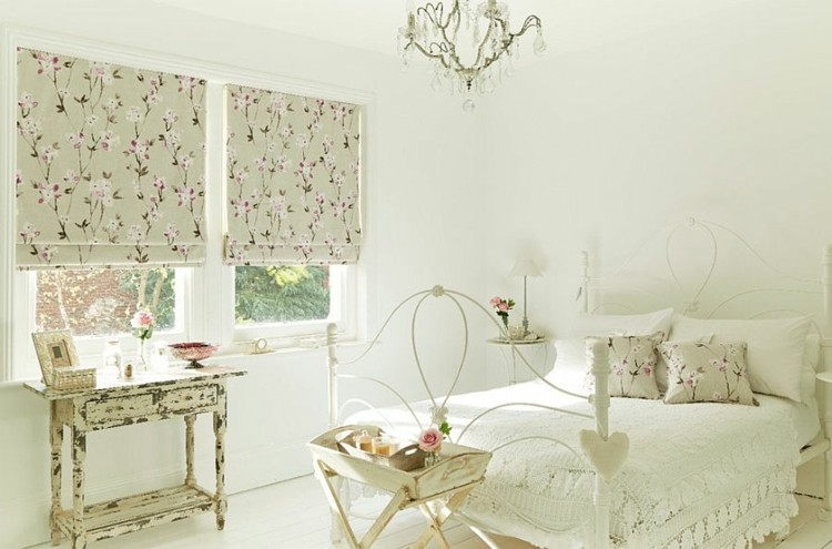 Estilo shabby chic en el dormitorio 50 ideas for Cortinas vintage dormitorio