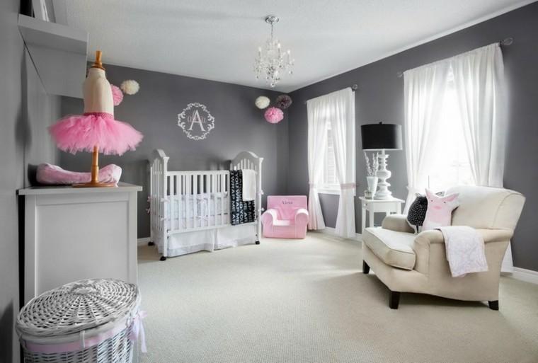 habitaciones de bebe ideas mimbre cesto sofa