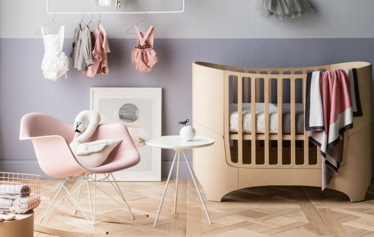 habitaciones de bebe ideas niña cisne mesas