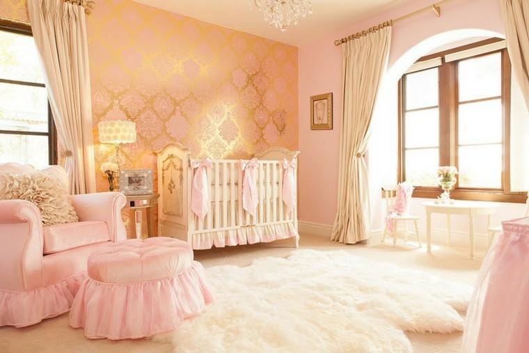 habitaciones de bebe ideas niña decorado calida