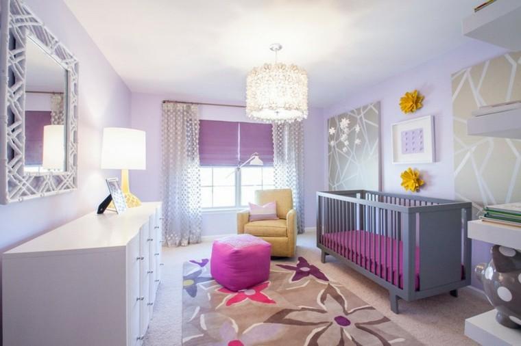 habitaciones de bebe ideas niña espejos flores