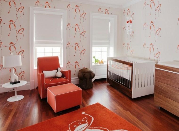 habitaciones de bebe ideas naranja