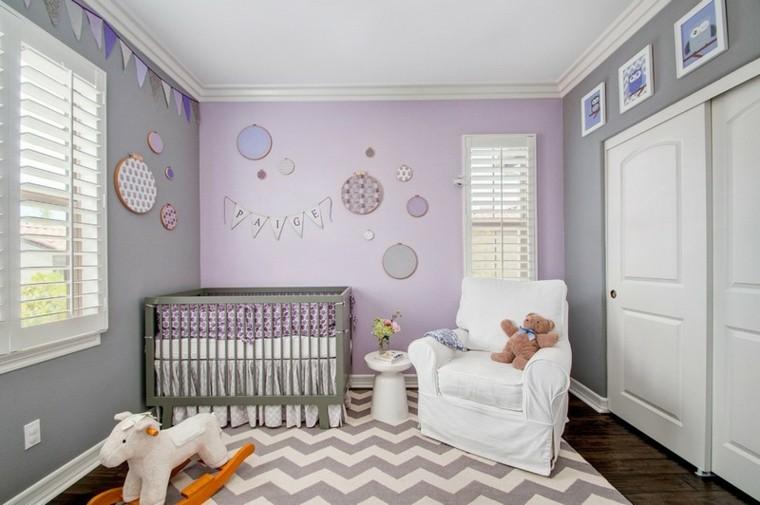 habitaciones de bebe ideas niña osos cuadros