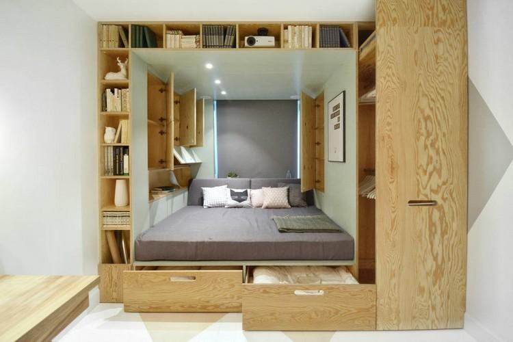 Habitaciones juveniles muebles para espacios peque os - Armarios para dormitorios pequenos ...