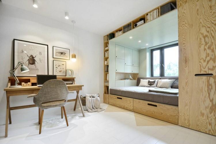 Habitaciones juveniles muebles para espacios pequeños
