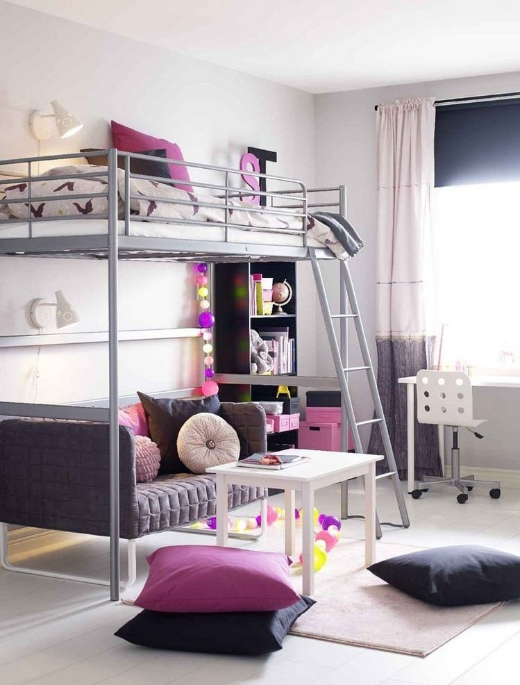 habitaciones muebles preciosos hijos dos camas ideas