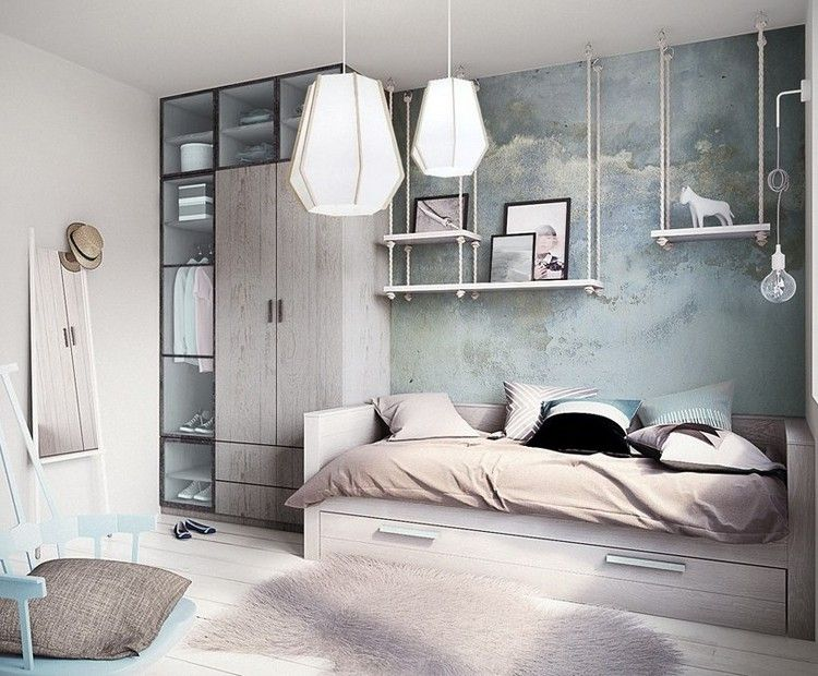 Habitaciones juveniles muebles para espacios peque os for Diseno de libreros para espacios pequenos
