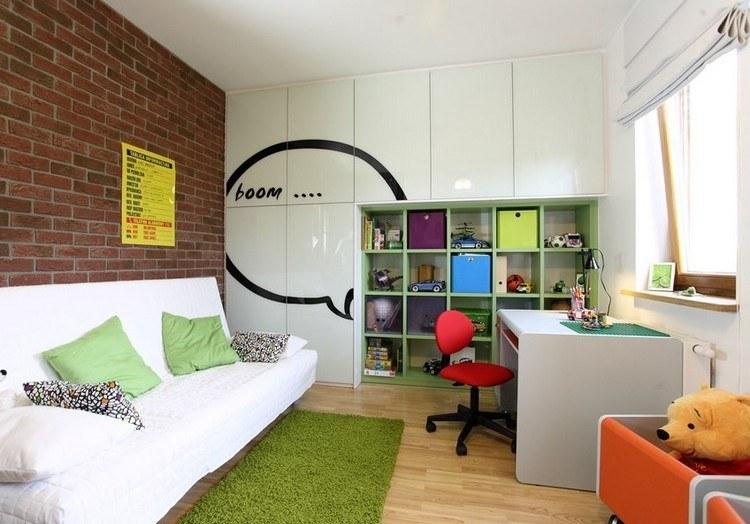 habitaciones muebles preciosos hijos pared ladrillo ideas