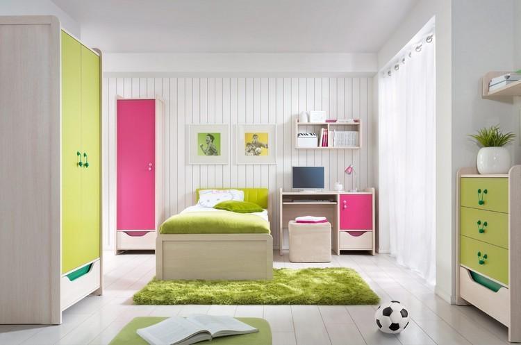 habitaciones juveniles muebles preciosos hijos alfombra verde ideas