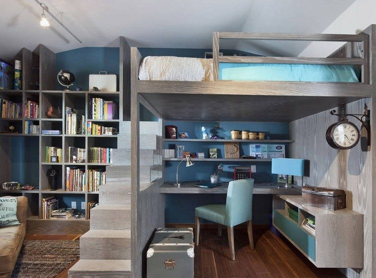 juveniles muebles preciosos hijos escritorio escaleras ideas