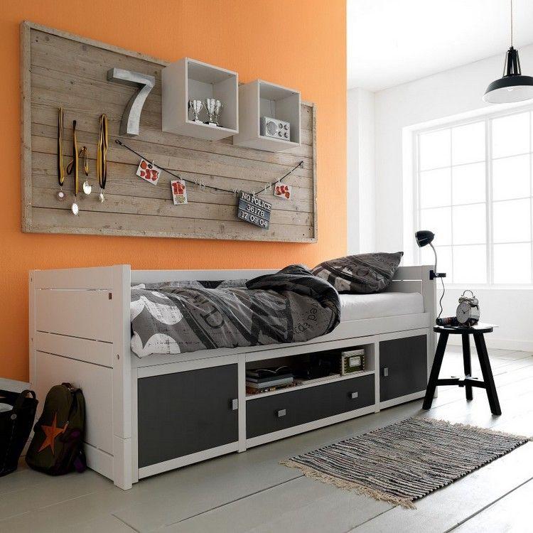 juveniles muebles preciosos hijos pared naranja ideas