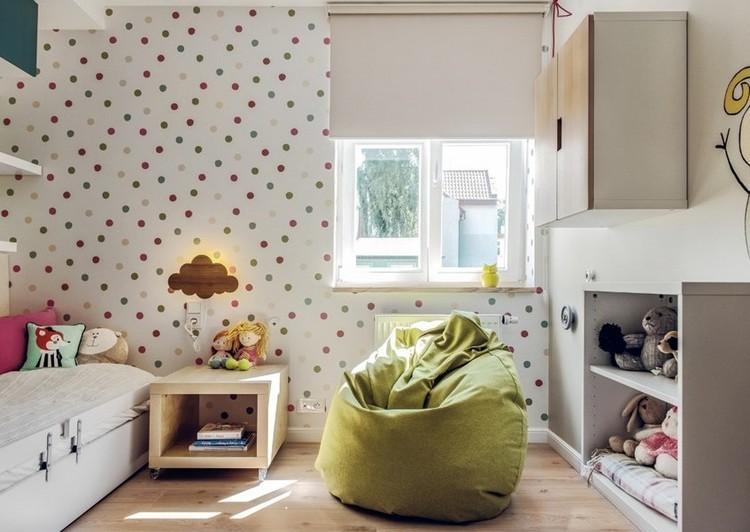 habitaciones juveniles muebles preciosos hijos puf verde ideas