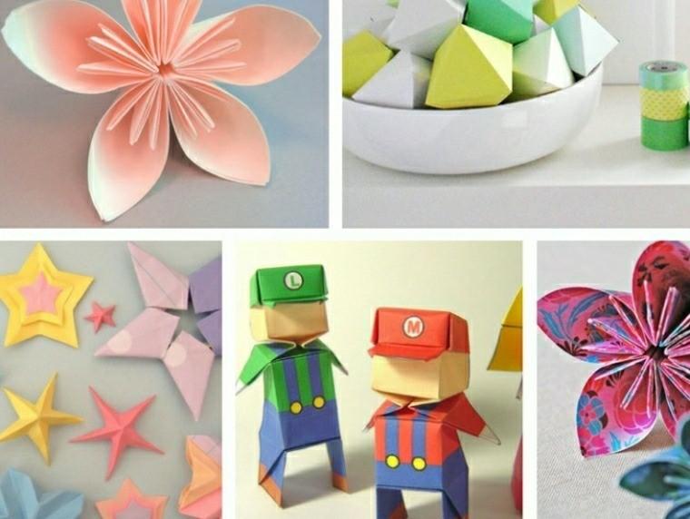 hacer adornos cartulina origami ideas
